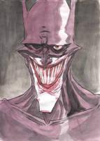Commission - Joker Batman by bobmeatbag