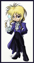 Chibi Jareth the Goblin King final paints by Bee-chan