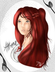 .:Painting:. Athena by silverinkstripe