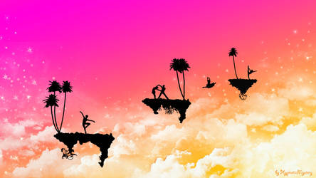 Floating Islands Wallpaper by HypnoticMystery
