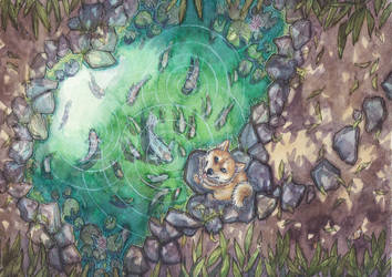Green Puddle by Rinaii