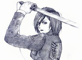 Mikasa Ackerman by RedCorpse-Dezzer