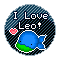 I Love Leo: Round Stamp by KawaiiKittee88