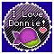 I Love Donnie: Round Stamp by KawaiiKittee88