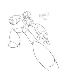 megaman x_sketch by Xeromander