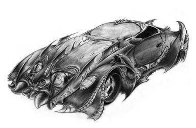 Sketch - A Fantasy Car by toonrama