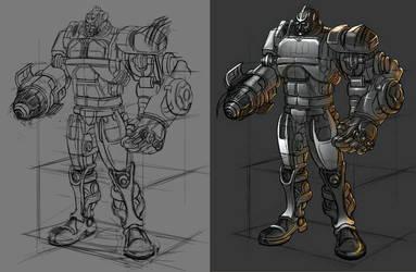 Robosteel - work in progress by toonrama