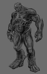Sketch - Abomination - Hulk by toonrama