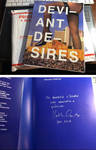Signed 'Deviant Desires' book by Katharine Gates by BustArtist