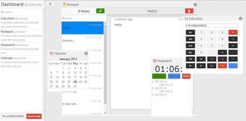 Online Dashboard Preview 2 by DaKoder