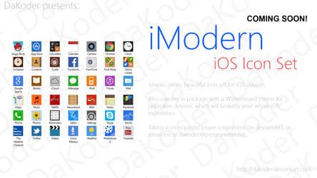 iModern iOS Icon Set - Preview by DaKoder