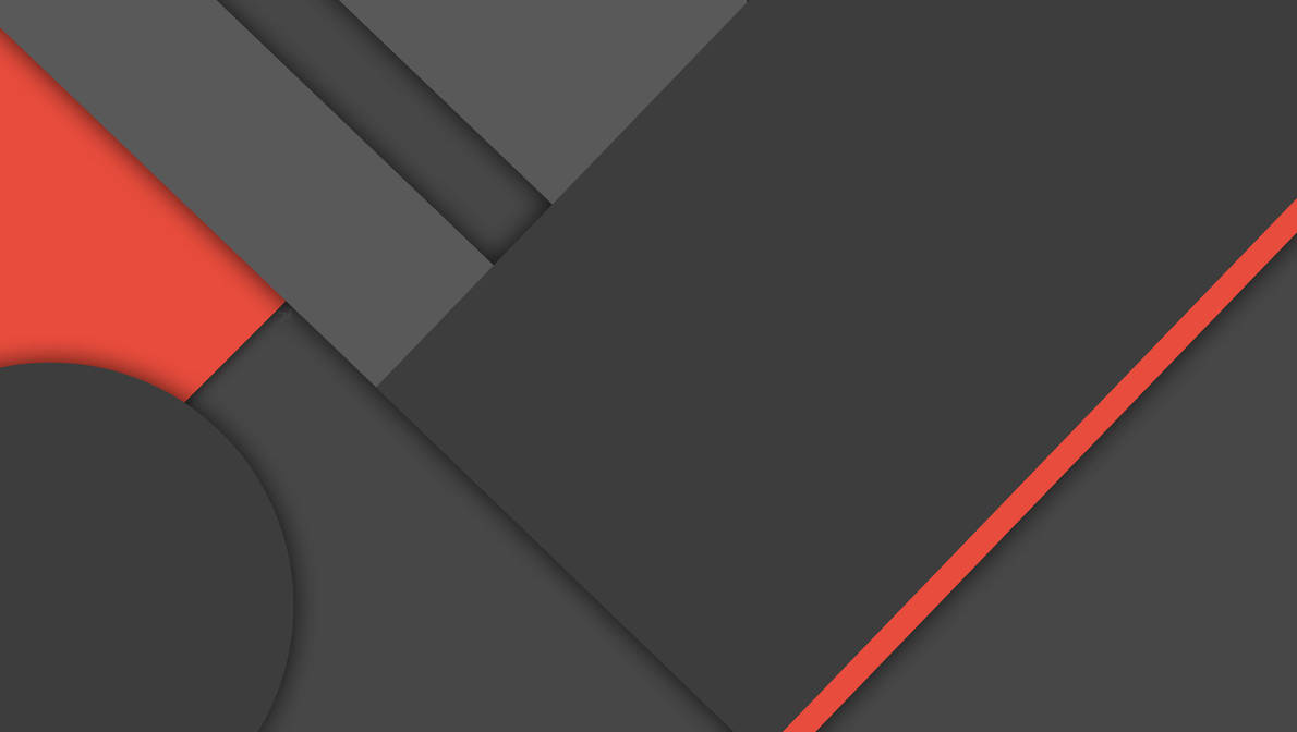 [MinFlat] Dark Material Design Wallpaper (4K) by DaKoder