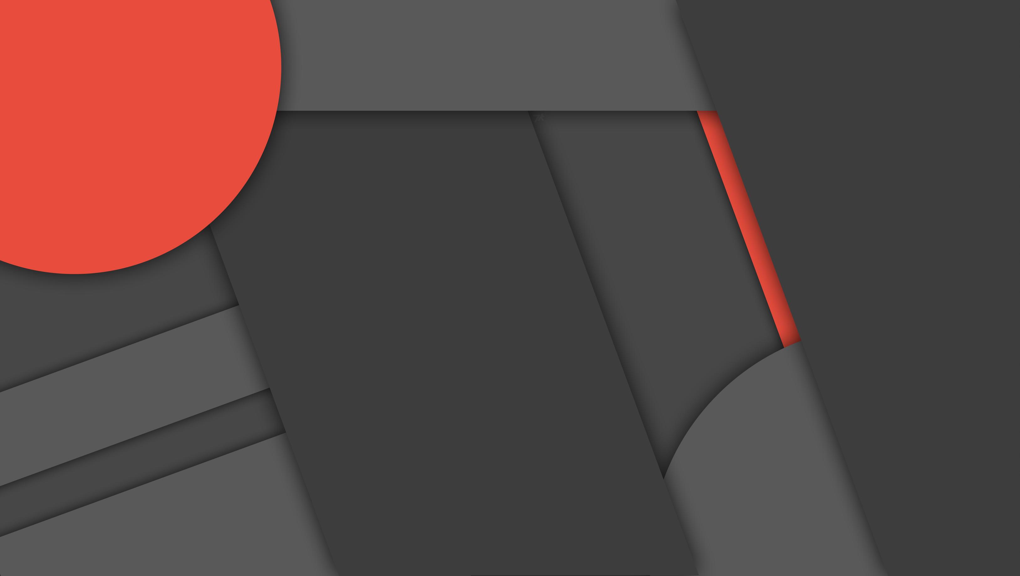 [MinFlat] Dark Material Design Wallpaper 2 (4K) by DaKoder