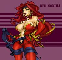 ++ Red Monika ++ by xbitstormx
