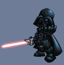 chibi darth vader colored by shalomone