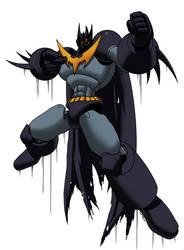 mazinger-batman colored by shalomone