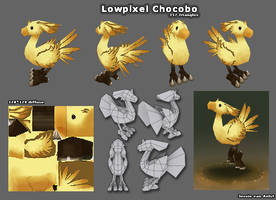 Lowpixel Chocobo by sweetangel0467