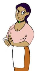 02-19: Nameless Waitress by clamchowda