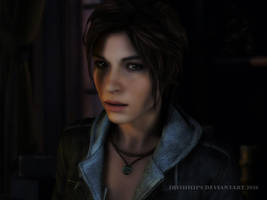 Rise Of The Tomb Raider: What You Staring at? by Irishhips