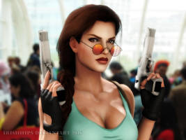 Tomb Raider: Classic Lara at SDCC 2016 (2) by Irishhips