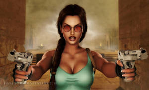 Tomb Raider: Don't Move, Scumbag!!! by Irishhips