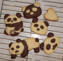 PANDA cookies XD by Rin-Shiba