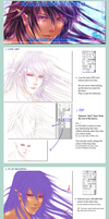Hair Colouring Tutorial - my way by Rin-Shiba