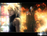 Cloud vs Sephiroth from FFAC by Shadowslabs
