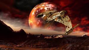 Klingon D4 Bird Of Prey by OliverInk