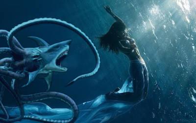 Mermaid's Demise by OliverInk