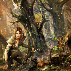 Enchanted Glade by OliverInk