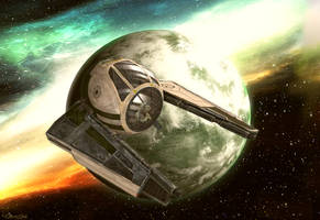 Yoda's Exile by OliverInk