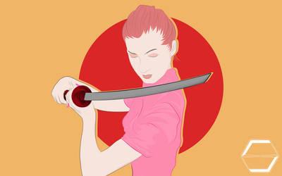 Samurai Girl by wormholocaust