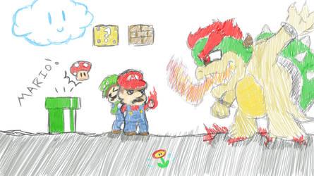 Mario Bros. random fan art by Eternalshadow64