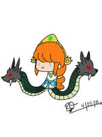 Chibi Scylla from SMITE by Eternalshadow64