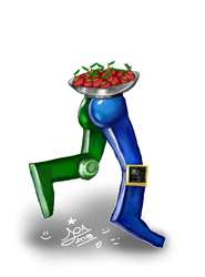 Robot lleva fruta by JazFilippa