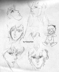 Ryo Saeba sketches by kizzychan