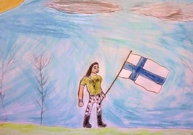 Lone Finnish Metalhead Warrior by AwesomePrussia2345