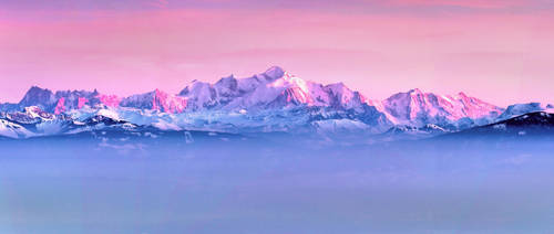 The Alps at Sunset by cwaddell