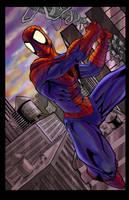 Spiderman colored by hanzozuken