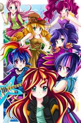 MLP: Equestria Girls- Friendship Through The Ages by kiriche