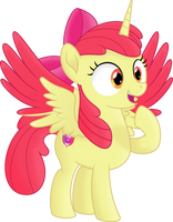 [Apple Bloom] Apple Alicorn by Kopcap94