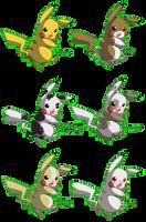 PKMN: Pikachu Variations by Phantomania
