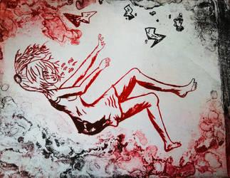 Falling print 11/12 lithograph.  by jtkk33