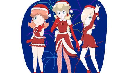 Peach Daisy Rosalina Christmas by Luna2528CP