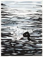 Inktober: 04 - Underwater by sionra