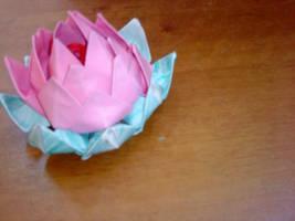 Origami Lotus Flower by radia-dz