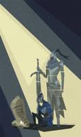 Memory of Artorias - Dark Souls by kris-in-the-shell