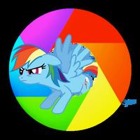 My first Rainbow Dash Google Chrome Icon, updated. by Flutterflyraptor