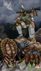 Boba Fett-VS-Predator by WiL-Woods